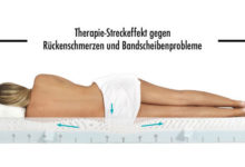 Streckeffekt mit Physiologa Therapiematratze