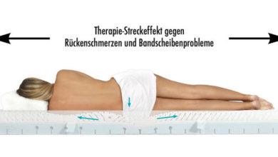 Streckeffekt mit Physiologa Therapiematratze