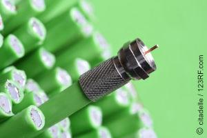 Aufbau eines KOAX-Kabels (TV)