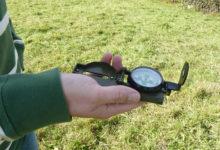 Kompass, ein Werkzeug des Rutengängers