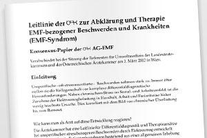ÖÄK veranschiedet Leitlinie zum EMF-Syndrom