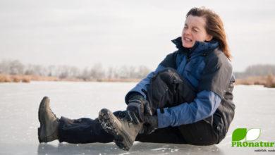 Ausrutschen auf Schnee und Eis verletzt! (©123rf.com)
