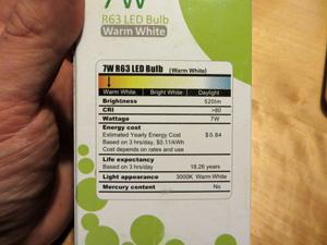 Lighting LED Verbrauchswerte