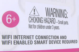 Warnung das es nur mit WLAN funktioniert