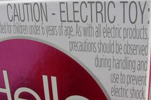 Warnung vor dem elektrischen Schlag