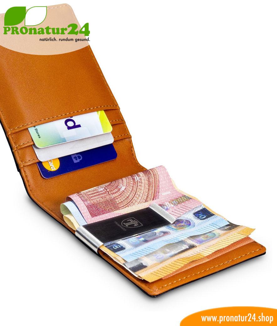 Geldbörse mit integriertem RFID NFC Schutz
