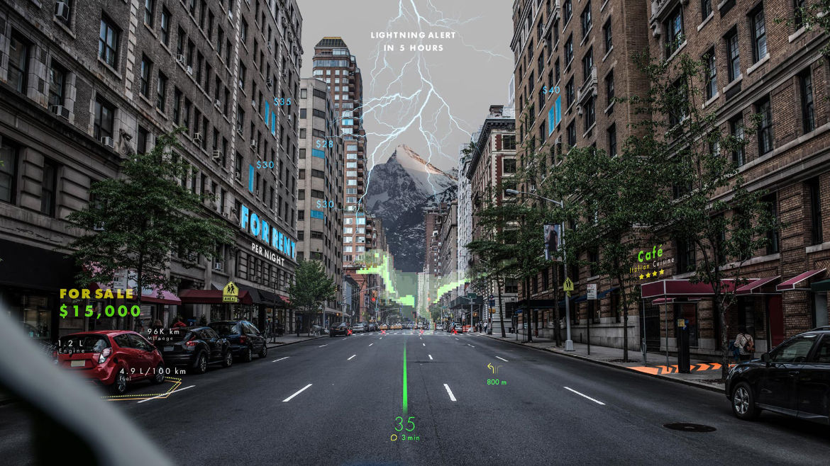Augmented Reality als Navigationssystem von WayRay